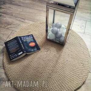 okrągły dywan ze sznurka - model camel, sznurka, rękodzieło