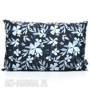 poduszka podusia 40 x 60 jasiek blue flowers - bawełna, milutka, minky