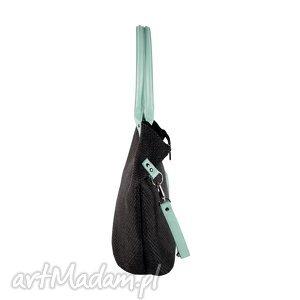 na ramię torba worek plecionka mint, torba, torebka, plecionka, manamana torebki