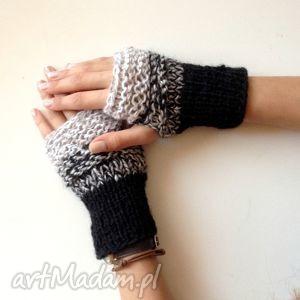 rękawiczki mitenki - rękawiczki, mitenki, szare