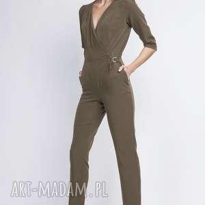 Kombinezon, kb108 khaki spodnie lanti urban fashion seksowny
