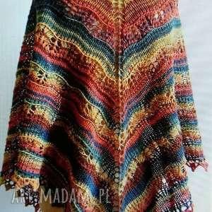 święta, jesienny spacer chusta, rękodzieło, ażur, ażurowa, styl, prezent