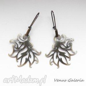 Płomyki srebrne duże -kolczyki, srebro, biżuteria, oksyda, ażurowe, venus, kolczyki