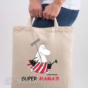 licencjonowana torba z krótkim uchem muminki dla mamy super mama, nazakupy