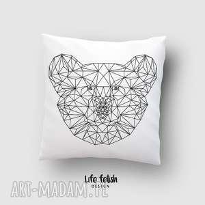 poduszki poduszka z misiem, poduszka, poszewka, panda, miś, koala, outline