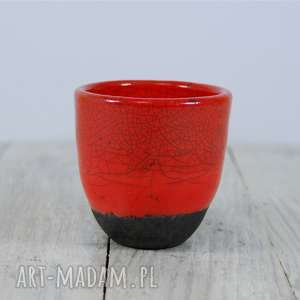 Czarka czerwona Raku, herbata, do-herbaty, czarka, ceramika, użytkowa, kubek