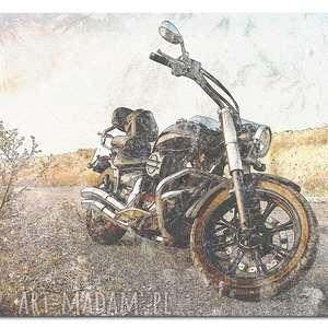 obraz motor 2 - 120x70cm na płótnie motocykl design, obraz, motocykl