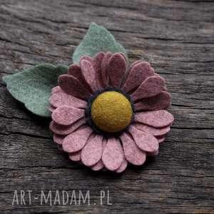 dla dziecka spinka do włosów kwiatek cameo pink, spinka, kwiatywewłosach