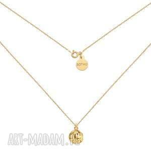 złoty naszyjnik z kulą, łańcuszek, kulka, ozdobna, kuleczka, pozłacany, ażurowa