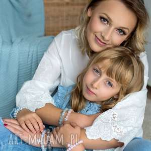 BRANSOLETKA z perełek Swarovskiego - for KIDS, perła, swarovski, serce, chwost