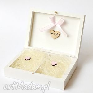 Prezent Pudełko na obrączki ślubne, pudełkanaobrączki, pastelowe, prezent