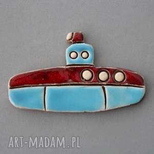 łódź podwodna-magnes, ceramika, woda, pływanie, prezent, kolekcjoner, on, urodziny