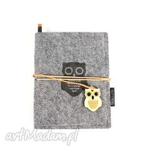 notesy notes filcowy owl, notes, notatnik, filc, organizer, pamiętnik