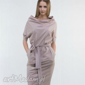 sukienki kim sukienka z dzianiny bawełnianej, sukienka