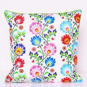 poduszki poduszka ludowe wzory 50x50cm, folk od majunto, folk, folkowa