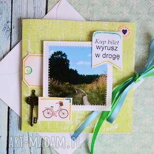 handmade kartki kartka - kup bilet wyrusz w drogę