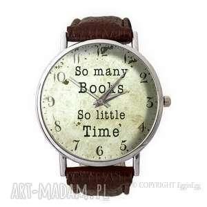 so many books - skórzany zegarek z dużą - książki
