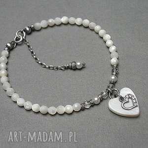 Perle heart - bransoletka katia i krokodyl srebro oksydowane