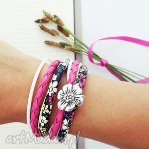 prezent na święta, flower power, bransoletka, flower, kwiat, podwójnie