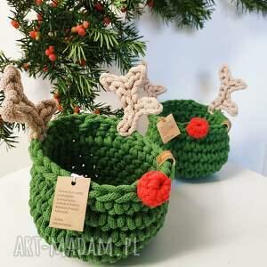ręcznie wykonane pomysły na święta prezenty koszyk renifer rudolf