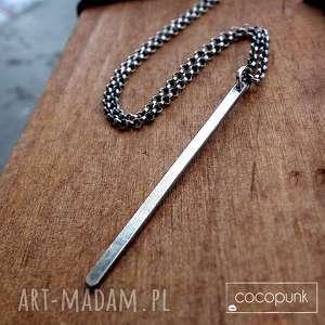 naszyjnik z soplekiem- srebro pr 925 - delikatny, komplet, nowoczesny, modny, prezent
