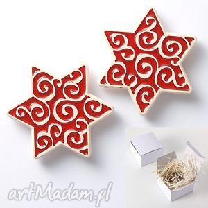 na święta upominek gwiazdki magnesy, czerwone, gwiazdka, gwiazdki, choinka, dekoracja