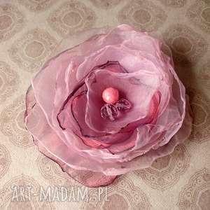 Rosa II, broszka, brosza, przypinka, lekka, letnia, ozdoba