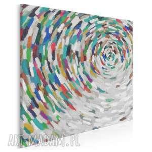 obraz na płótnie - wir kolory w kwadracie 80x80 cm (43302)