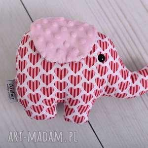 Przytulanka dziecięca słoń zabawki ateliermalegodesignu