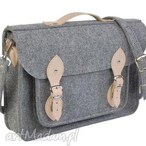 męskie filcowa torba - personalizowana z grawerowaną dedykacją logo lub grafiką 15