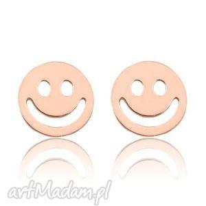 sotho kolczyki z różowego złota z uśmiechem, buźka
