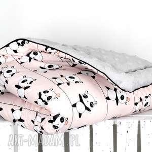Prezent Kocyk minky dla dziecka na prezent pandy, panda, prezent, kocyk, baby-shower