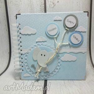 albumik z głową w chmurach dla chłopca, chrzest, urodziny, narodziny, prezent