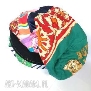 czapka długa smerfetka boho turban recycle, czapka, etno, turban, długa, kolorowa