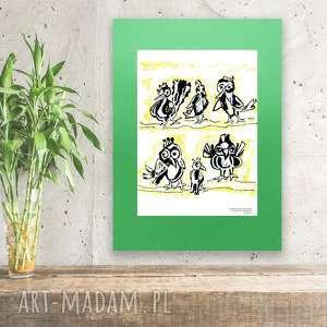 fajny plakat do dziecięcego pokoju,ładny z ptaszkami,ptaszki obrazek dla
