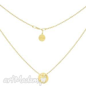 złoty naszyjnik celebrytka z kółeczko z serduszkiem sotho