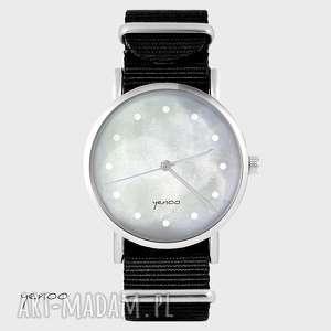 Prezent Zegarek - Szary czarny, nato, zegarek, bransoletka, klasyczny
