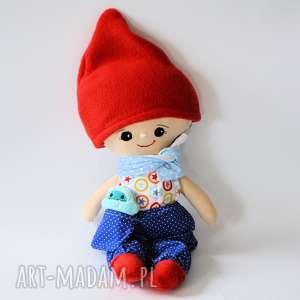 Zestaw: lalka Leszek, ubranka i małe yeti, lalka, krasnal, zestaw, przyjaciel