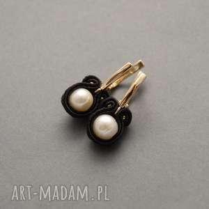 kolczyki sutasz z perłami, sznurek, delikatne, wieczorowe, perła, eleganckie