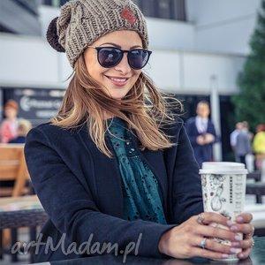 business instinct ice coffee, jesień, zima, ocieplana, pompon