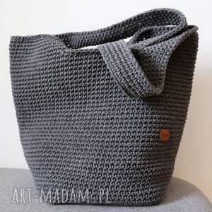 handmade torebki duża szydełkowa torba na ramię