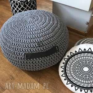 pufa lotos crochet dzianinowa pufa, scandi, loft, joga