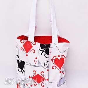 ręcznie zrobione torba na zakupy shopperka ekologiczna zakupowa ramię bawełna karty