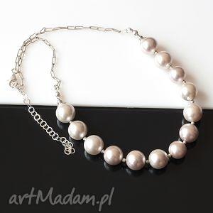 Srebrne perły naszyjnik, perły, seashell, srebro, ślub, naszyjnik