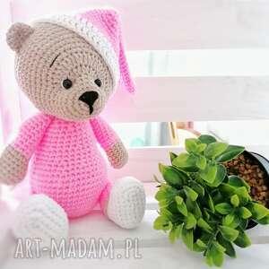 d art różowy miś maskotka, mis, narodziny dziecka, córka syn prezent