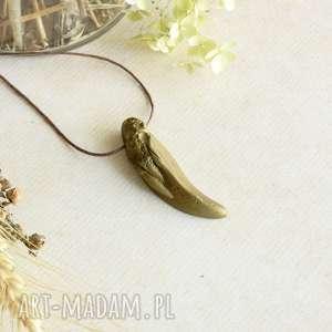 sirius92 mosiężny wisior smoczy ząb, biżuteria męska, kieł