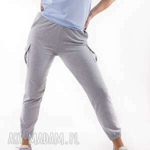 handmade spodnie bojówki szare total stick