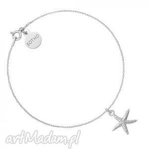 srebrna bransoletka z rozgwiazdą, modna, bransoletka, srebro, minimalistyczna