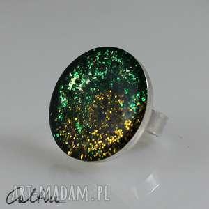 kolory lasu - brokatowy pierścionek, pierścień, duży, brokat