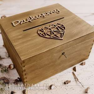 ślub rustykalne pudełko na koperty